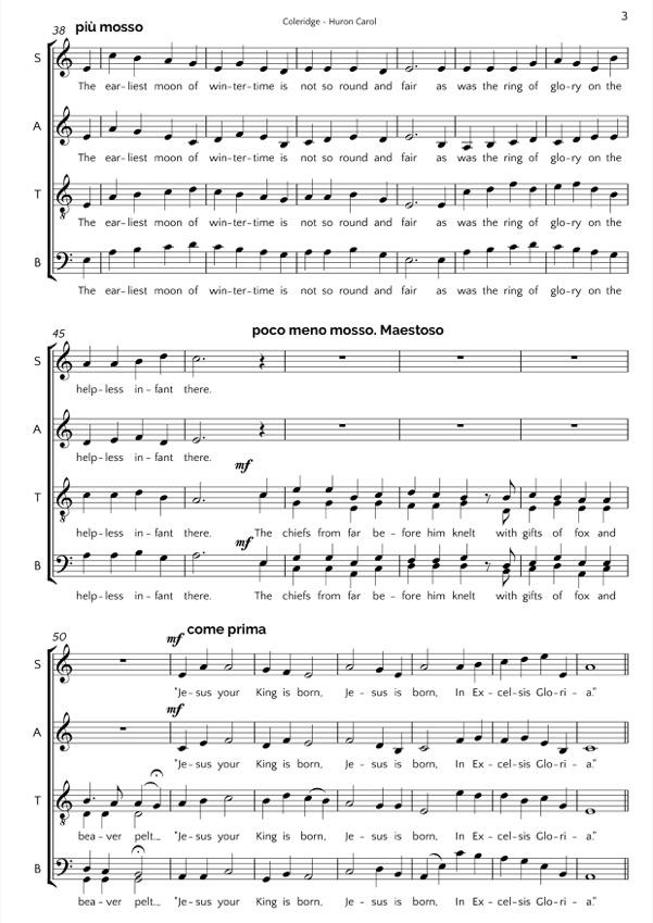 Matthew Coleridge: Huron Carol Sheet Music Free At Alzheimers-prions.com