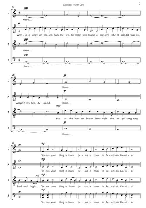 Huron Carol | Matthew Coleridge